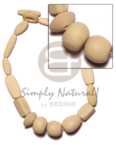 Ladies natural wood beads necklace wood necklace