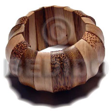Natural palmwood robles and ambabawod combination wooden bangles