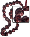 Ladies kukui nuts marbleized metallic chunky necklace