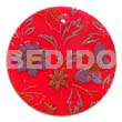 Cebu round 35mm red hammershell hand painted pendants