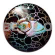 Native round 40mm blacktab handpainted hand painted pendants