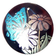 Philippine round 50mm blacktab shell hand painted pendants