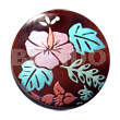 Native round 50mm blacktab shell hand painted pendants