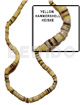 Handmade 4-5mm hammer shell heishe yellow heishe shell beads