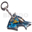 Teens 60mmx37mm transparent clear blue keychain