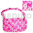 Ladies pink coco rings lining native bags