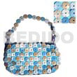 Natural blue and natural coco rings native bags