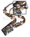 Philippine 4-5mm bleached white coco pokalet shell necklace