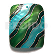 Native handpainted and colored rectangle 50mmx40mm shell pendants