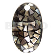 Natural dome oval 70mmx42mm laminated blacklip shell pendants
