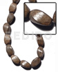 "Philippines ""greywood"" twisted 10mmx15mm 26 wood beads"