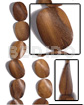 Cebu 30mmx40mmx6mm robles wood twisted wood beads