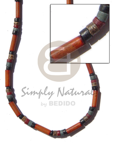 Fashion bamboo tube black bamboo necklace