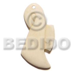 Ethnic 45mm art lady natural white bone pendants