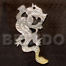 Natural flying mop dragon carving 45mm carved pendants