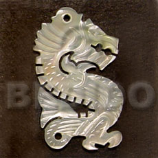 Cebu dragon carving mop 45mm carved pendants