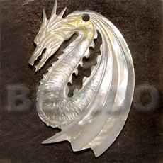 Ladies flying dragon mop carving 45mm carved pendants
