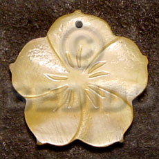 Philippine flower mop 40mm carved pendants
