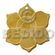 Cebu 45mm mop flower carved pendants