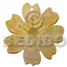 Fashion 45mm mop flower carved pendants