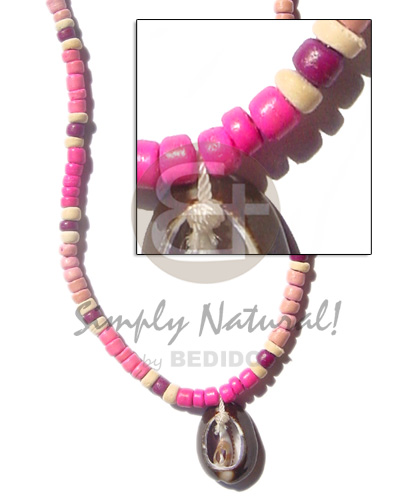 Philippines 4-5mm coco pukalet in pink choker necklace