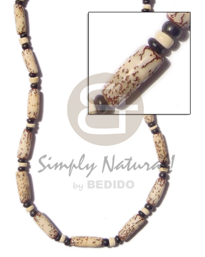 Ethnic tiger saluwag blk choker necklace