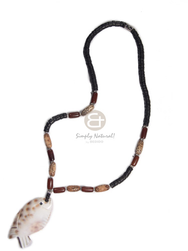 Philippines 4-5mm black coco heishe choker necklace