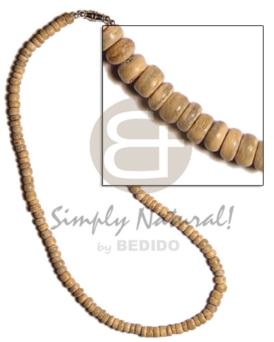 Ethnic 4-5mm coco pokalet natural choker necklace
