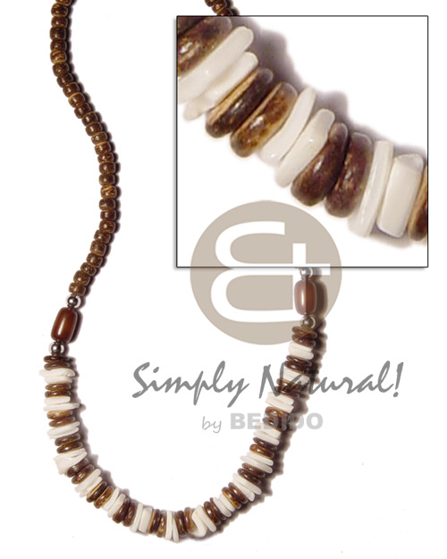 Ladies 7-8m coco pokalet brown choker necklace