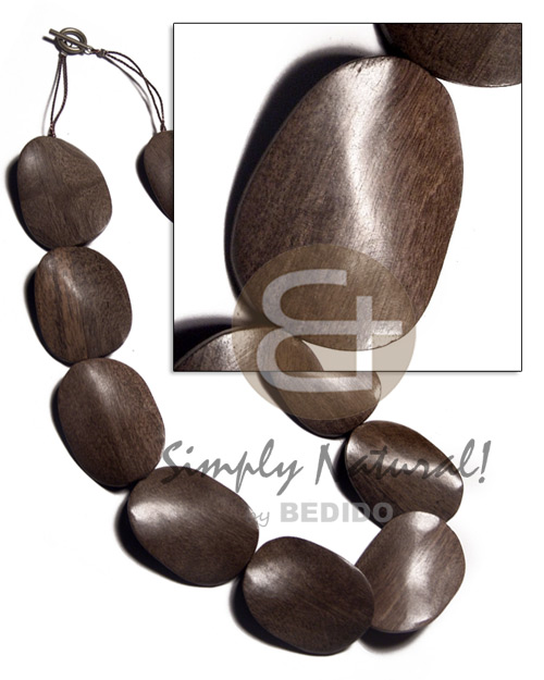 Wholesale 30mmx40mmx6mm greywood twisted chunky necklace