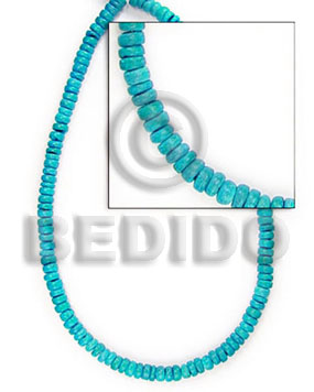 "Teens 4-5 mm ""turquoise"" coco pokalet coco beads"