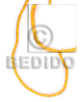 Fashion 2-3 mm golden yellow coco coco beads