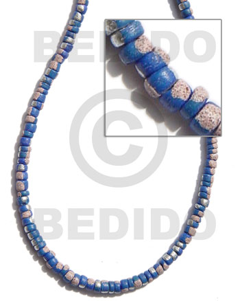 Fashion 4-5mm coco pokalet. blue coco beads