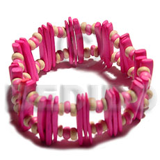 Fashion pink coco stick coco bracelets