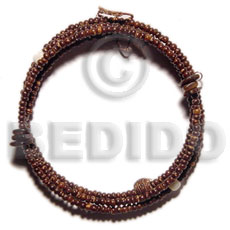 Handmade 2-3mm coco pokalet natural brown coco bracelets