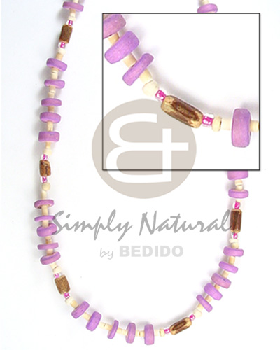 Teens 7-8mm c. pokalet lilac 2-3 hshe coco necklace