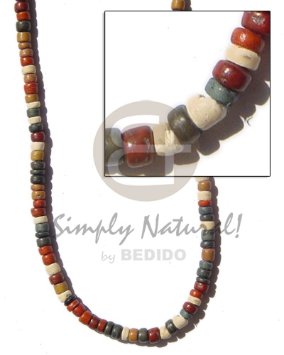 Philippines coco pokalet 4-5 earth tone coco necklace