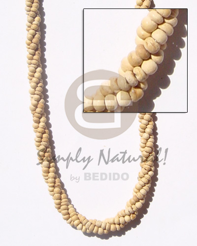 Ladies twisted 2-3 coco pukalet coco necklace