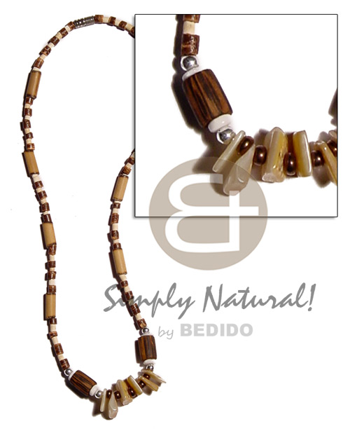 Philippine 2-3mm coco heishe natural brown bleach coco necklace