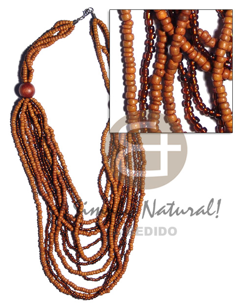 Cebu 4 rows graduated multilayered coco necklace