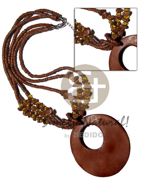 Fashion 3 layers 2-3mm coco heishe coco necklace