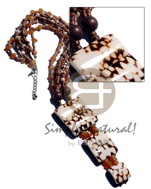 Philippine 3 layers 2-3m mocca coco coco necklace