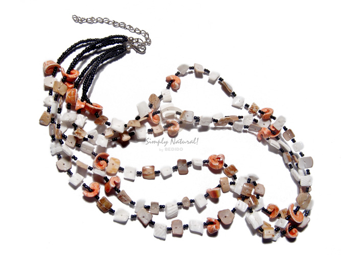 Philippine 5 rows 2-3mm coco pokalet coco necklace