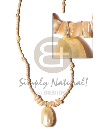 Unisex 2-3mm coco heishe natural coco necklace