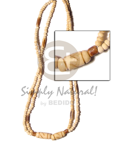Wholesale 2 rows coco pokalet nat coco necklace