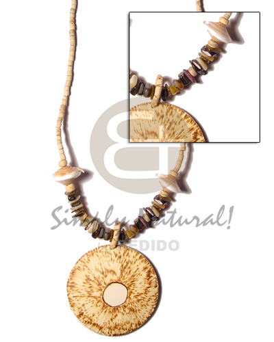 Philippines 2-3 coco heishe bleach brown lip coco necklace