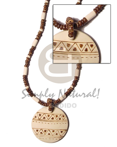 Philippine 4-5 mm coco pokalet brown coco necklace