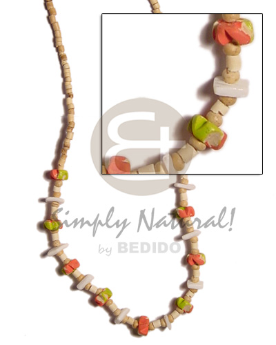 Handmade 2-3mm coco heishe natural coco necklace