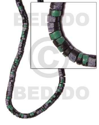 Ethnic 7-8mm coco heishe black coco splashing beads