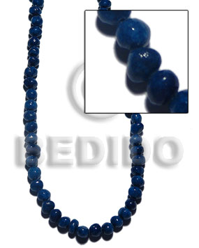 Teens coral nuggets navy blue crazy cut shell beads